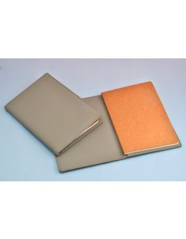 Minimalist Pastel Grey Vegan Leather Journal