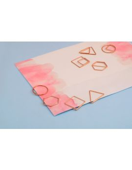 Geometric Rose Gold Paper Clips — Set of 8