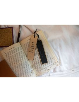 Chalkboard and Wood Bookmark