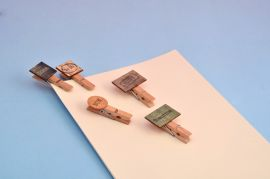 Work Priority Wooden Clips