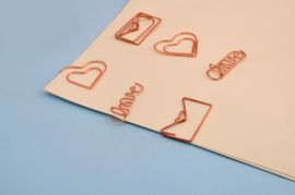 Love Rose Gold Paper Clips — Set of 6