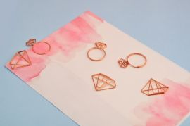 Diva Rose Gold Paper Clips — Set of 6