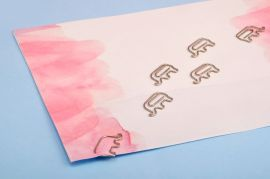 Elephant Metal Paper Clips — Set of 6