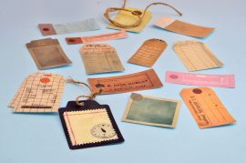 Back to the '70s Journal Tags/Mini Bookmarks — Set of 14