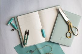 Minimalist Pastel Blue Vegan Leather Journal